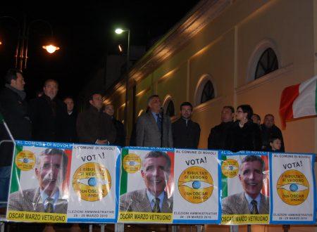 Novoli. Fratelli D'Italia, tre anni fa la rottura con l'Amministrazione Oscar Marzo Vetrugno. Il documento.