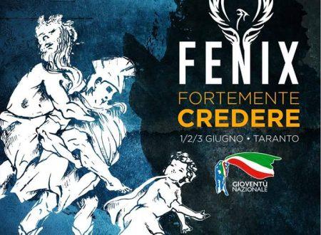 """""""Fortemente Credere"""". FENIX la festa di Gioventu' Nazionale a Taranto."""